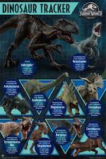 Jurassic World Fallen Kingdom - Dinosaur Tracker POSTER 61x91cm NEW dino chart