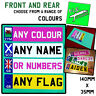 Personalised CHILD'S kids NUMBER PLATE stickers for ride On toy car jeep etc