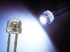 50 Stück LED 5mm straw hat kalt weiß, Kurzkopf, Flachkopf