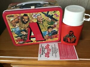 VINTAGE THE A-TEAM LUNCHBOX AND THERMOS - UNUSED WITH PAPERS!