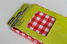 Picnic Tablecloth Table Cloth Gingham Red Check Traditional PVC Wipe Camping UK