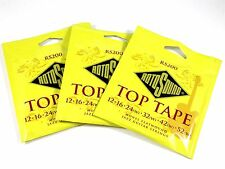 RotoSound Top Tape 3 Pack Monel Flatwound Electric Guitar Strings RS200 12-52