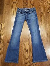 "JUICY COUTURE boot leg flare jeans stretch ""Frankie"" size 24 low rise SISLOU B02"