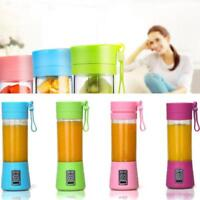 Portable Blender USB Juicer Cup Fruit Mixing Machine Rechargeable Bottle 400ML
