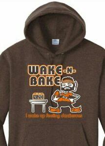 Cleveland Browns Bake Mayfield Elf 420 Wake and Bake Woke up Dangerous Hoodie
