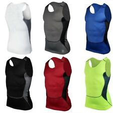 Mens Compression Base Layer Tops Sleeveless Fitness Running Sports Shirt Vest