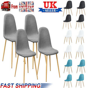 4Pcs/set Dining Chair Home Office Kitchen Lounge Chair Wooden Legs High Chair