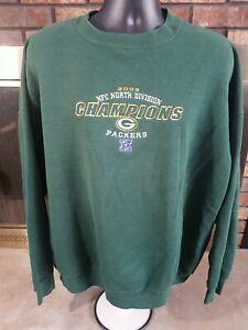Green Bay Packers NFL Football Crewneck Sweatshirt Mens XXL 2002 North Champions