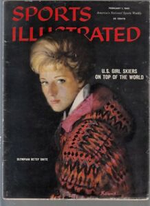 Sports Illustrated 1960 Betsy Snite Olympic Skier No Label