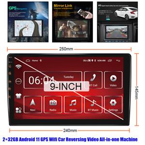 "9"" Android 11 Car GPS Navigation Host 2DIN Radio Stereo BT Wifi 2+32GB Universal"