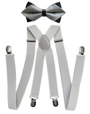 Axy Men's Braces With Bow Tie - 4 Strong Clips x Form HFLI3
