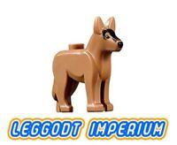 LEGO Minifigure Animal - Alsatian / German Shepherd Dog - dark flesh FREE POST