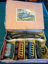INGAP, OLD 30s, Treno meccanico a molla-Wind up Tin Toy Train, original box, ok