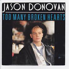 """DONOVAN Jason Vinyle 45 tours SP 7"""" TOO MANY BROKEN HEARTS - CBS 654825 Stereo"""