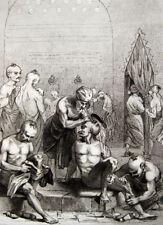 "Bagno turco per gli uomini Hammam sauna Turchia Turkish Bath men 1840 ""Turquie. BAIN"""