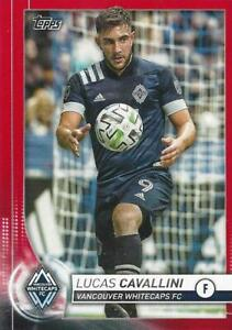 2020 Topps Major League Soccer Base Common Red Parallel Numbered to /10 115- 135