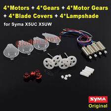4PCS CW CCW Motor+Gear Wheel+Blade Cover+Lampshade for Syma X5UW X5UC Spare Part