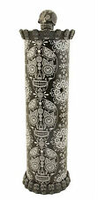"Black Skull Incense Burner Hand Made Poly resin 12.75"" Tall Smoker Skb"