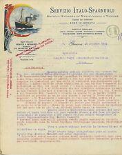 NAVE SOCIETA' ANONIMA DI NAVIGAZIONE A VAPORE LETTERA CON CARTA INTESTATA 1914