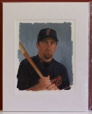 2003 Playoff Portraits Rich Aurilia Original Art Artwork Painting 1 of 1