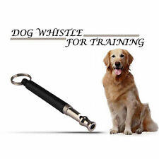 1pc Two-tone Ultrasonic Flute Dog Whistle Keychain for Pet Training Silver Black