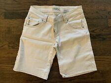 Paris Blues Denim Tan Cream Khaki Chino Bermuda Shorts Long Walking Crop Size 7