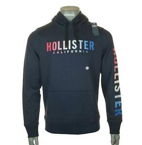 Bnwt Men's Hollister Logo Hoodie Fleece Lined Sweatshirt M L XL Navy Blue New