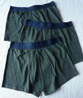 Lot 3 boxers homme sous vêtement caleçons vert lingerie taille S-M (Fr 38) neuf
