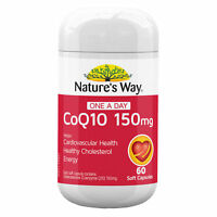 NATURE'S WAY COQ10 150MG 60 SOFT CAPSULES ONE A DAY FOR HEALTHY CHOLESTEROL