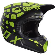 Fox Racing V3 GRAV Helmet [Black/Yellow] Large