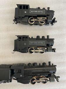 lot HO Scale 3. 0-4-0  LIMA  Steam locomotives exc.  1 Santa Fe   2- NYC