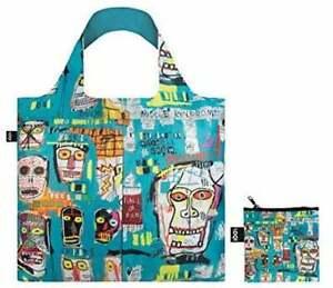 Jean-Michel Basquait Skull Shoulder Tote Bag by LOQI, Reusable Shopping Beach