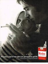 PUBLICITE ADVERTISING 094  1971  WINSTON   cigarettes