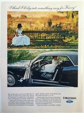1966 FORD MUSTANG HARDTOP - SOMETHING RACY FOR HARRY - VINTAGE ORIGINAL AD