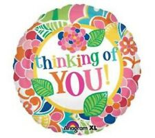 "Thinking of You Colourful Foil Balloon 18"" Anagram New"