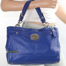 New Coach Penelope Leather Shoulder Bag Hand Bag Satchel F16531 Blue New RARE