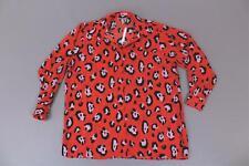 ASOS Design Women's Leopard Animal Print Oversized L/S Shirt KB8 Red US:6 NWT