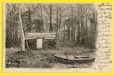 cpa FORÊT de St GERMAIN en LAYE (Yvelines) La MARE aux CANES Cabane de Bucherons