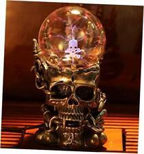 Aibote Magic Skull Head Glass Lightning Plasma Ball Touch Sensitive Night Light