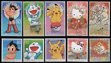 Japan 3300a-j Phila Nippon'11, Yokohama (10 USED Stamps from sheet)