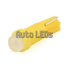 1 Yellow COB LED T5 Wedge 12v Interior LED Bulb