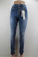 JEWELLY Damen Jeans Denim Blau Knopfleiste Jeansblau NEU  2021 JW2648