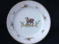 Assiette Faience XVIII Régionale Antique French Plate 18 ème