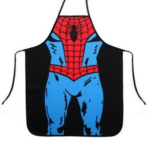 SUPERHERO SPIDER MAN FUNNY CHEF COOKING KITCHEN APRON SEXY DINNER PARTY CATERING
