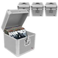 "Gorilla LP100 12"" LP Vinyl Record Box DJ Storage Carry Case Silver Holds 100 x4"