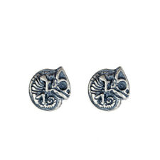 Women's 925 Sterling Silver Skull Ear Studs Chameleon Earrings Fashion Jewelry