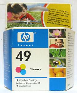 Hewlett Packard / HP 49 / HP49 Genuine Colour Cartridge. New & Sealed. 51649AE.