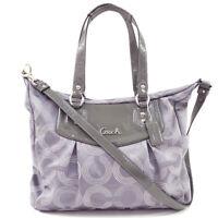 NWT $358 COACH Ashley Signature Shoulder Bag Silver Convertible Crossbody Zip
