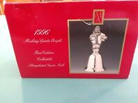 1996 MADISON AVENUE FIRST EDITION SILVER PLATED CHRISTMAS SANTA BELL IN BOX
