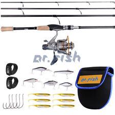 Baitfeeder Fishing Rod & Reel Combo W/ Kit 11Bb 5.1:1 Hooks Saltwater Bass Trout